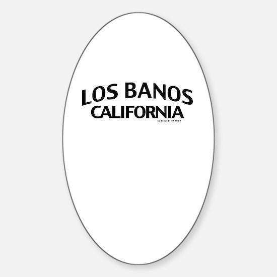 Los Banos Sticker (Oval)
