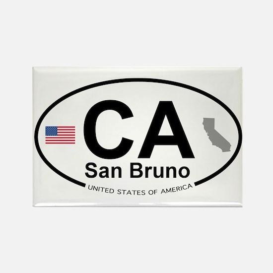 San Bruno Rectangle Magnet