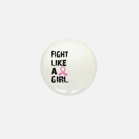 Licensed Fight Like a Girl 21.8 Mini Button