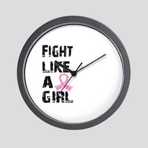 Licensed Fight Like a Girl 21.8 Wall Clock