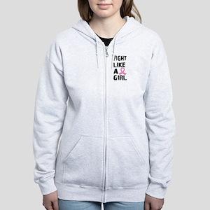 Licensed Fight Like a Girl 21.8 Women's Zip Hoodie