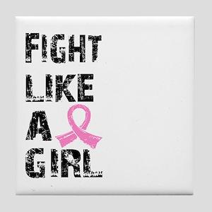 Licensed Fight Like a Girl 21.8 Tile Coaster