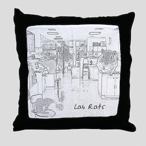 Lab Rats Throw Pillow
