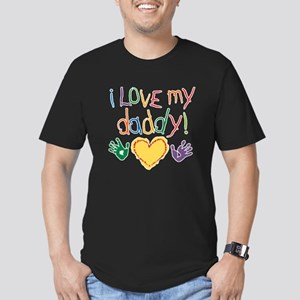 i love my daddy Men's Fitted T-Shirt (dark)