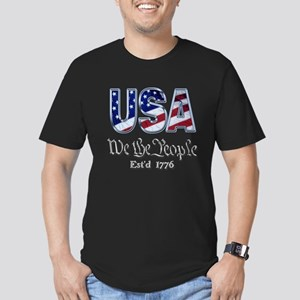 USA Men's Fitted T-Shirt (dark)