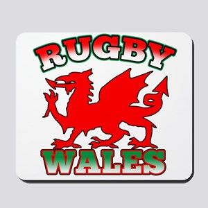 Rugby Wales Flag Mousepad
