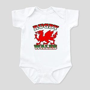 Rugby Wales Flag Infant Bodysuit
