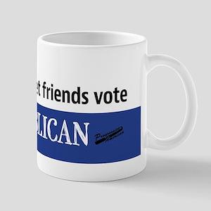 Friends don't let friends vote Republican Mugs