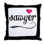 Sawyer Love Throw Pillow
