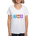 Eat Sleep Lost Women's V-Neck T-Shirt