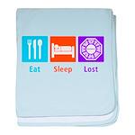 Eat Sleep Lost baby blanket