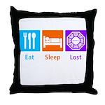 Eat Sleep Lost Throw Pillow