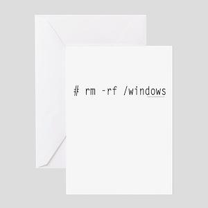 # rm -rf /windows Greeting Card