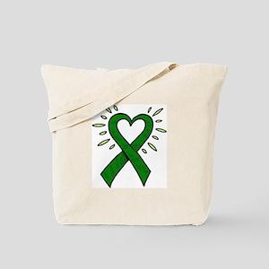 Donor Heart Ribbon Tote Bag