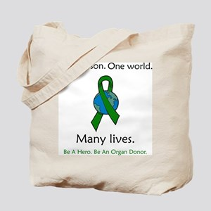 One Person. Many Lives. Tote Bag