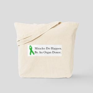 Green Ribbon Miracle Tote Bag