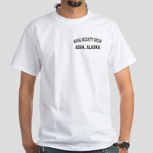 NAVAL SECURITY GROUP ACTIVITY, ADAK White T-Shirt