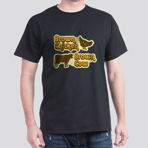 Brown Chicken Cow Dark T-Shirt