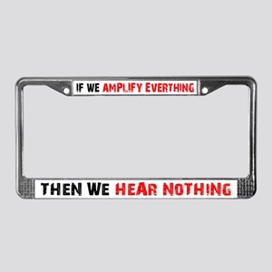 Amplify/Nothing License Plate Frame