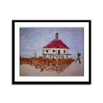 West Rigolets lighthouse Framed Panel Print