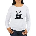 KiniArt Panda Women's Long Sleeve T-Shirt