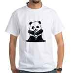KiniArt Panda White T-Shirt