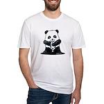 KiniArt Panda Fitted T-Shirt