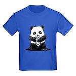 KiniArt Panda Kids Dark T-Shirt
