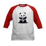 KiniArt Panda Kids Baseball Jersey