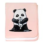 KiniArt Panda baby blanket