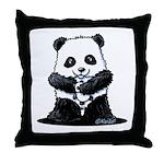 KiniArt Panda Throw Pillow