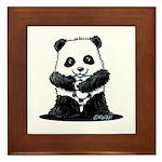 KiniArt Panda Framed Tile