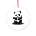 KiniArt Panda Ornament (Round)