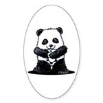 KiniArt Panda Sticker (Oval 10 pk)