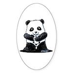 KiniArt Panda Sticker (Oval 50 pk)