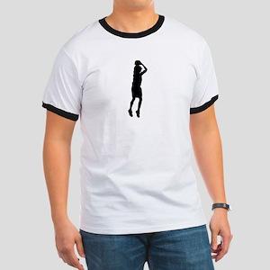 """""""Basketball Jesus"""" Ringer T"""