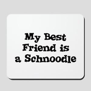 My Best Friend is a Schnoodle Mousepad