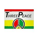 ThreePeace Flag Rectangle Magnet