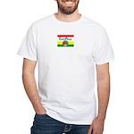 ThreePeace Flag Reggae White T-Shirt