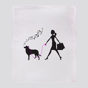 Smooth Collie Throw Blanket