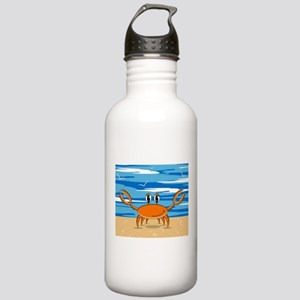 Cute Little Beach Crab Stainless Water Bottle 1.0L