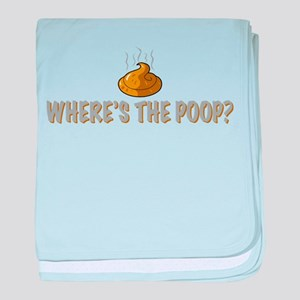Where's the poop? baby blanket