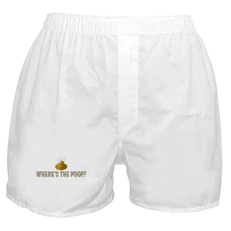 Where's the poop? Boxer Shorts