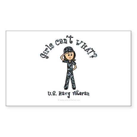 Light Navy Veteran (Blue Camo) Sticker (Rectangle)