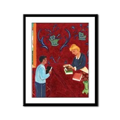 Matisse-inspired Library Book Check-Out Poster
