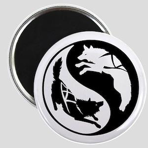 Yin-Yang Huskies Magnet