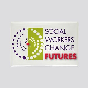 Social Workers Change Futures Rectangle Magnet