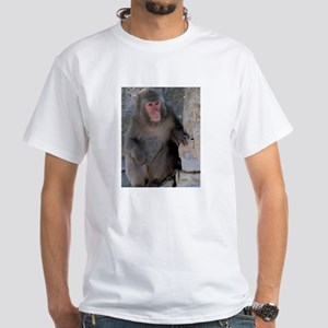 Japanese Macaque White T-Shirt (Child - 4X)