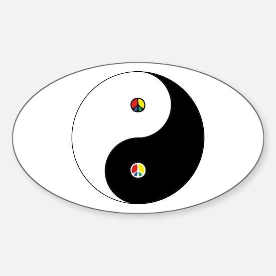 Peace Sign Dao Sticker (Oval)