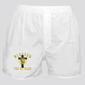 Blessed For 90 Years Boxer Shorts